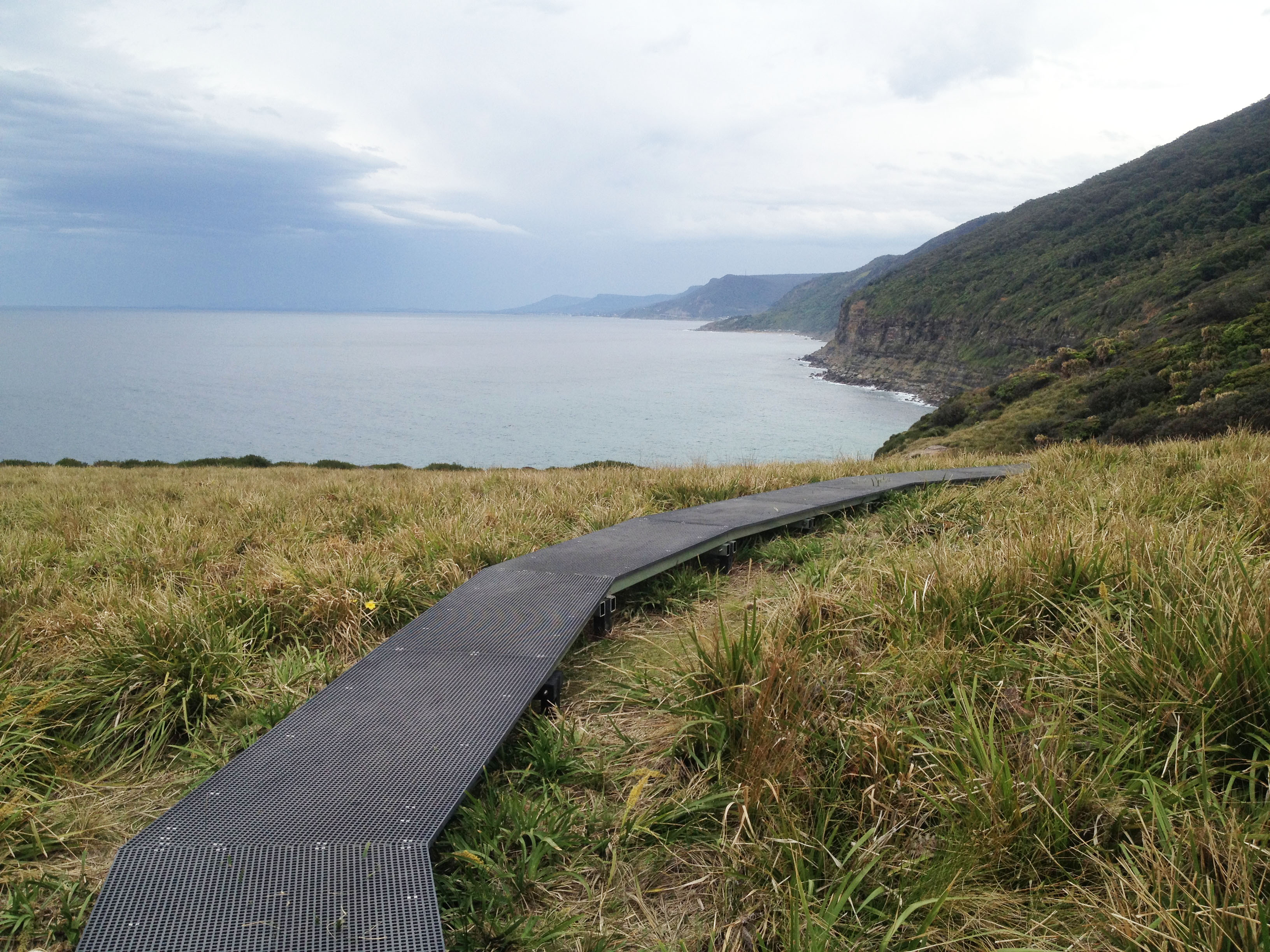 Coast walk boardwalk