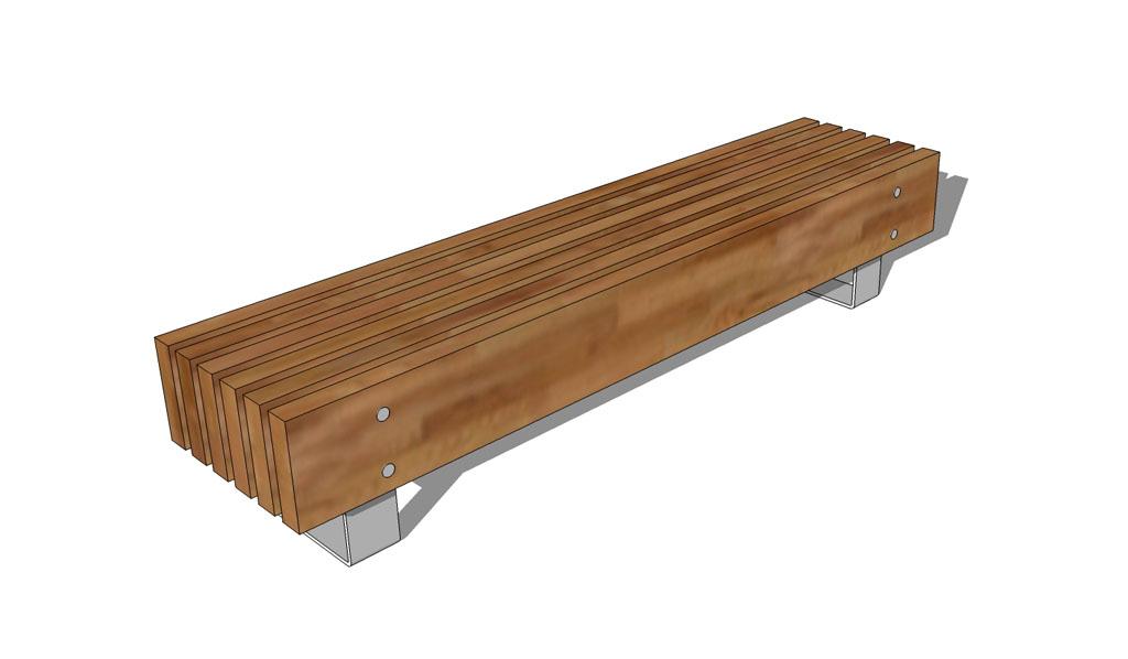 Vertical Slat Seat