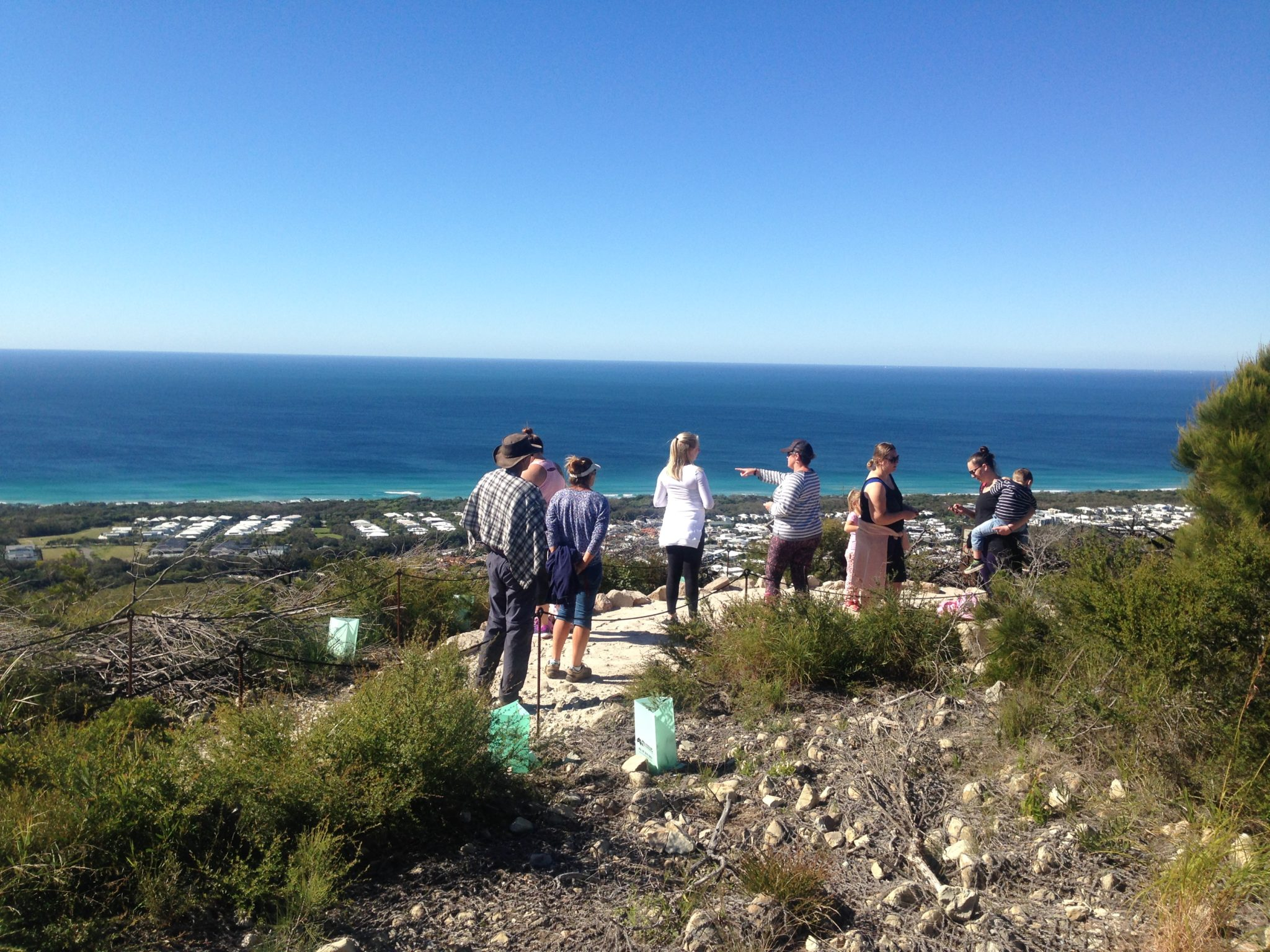 Visitors enjoy the new Northern Lookout